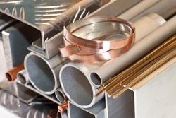 Aluminium, copper pipe and profile, bronze bars