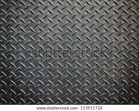 Aluminium Dark List With Rhombus Shapes