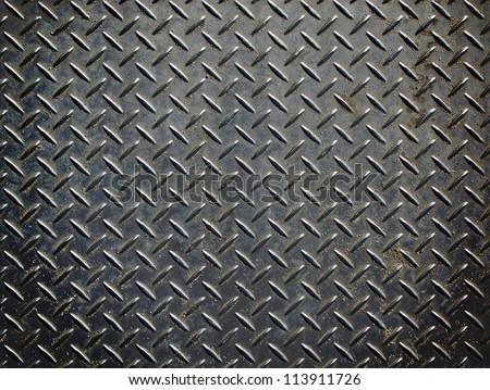 Aluminium dark list with rhombus shapes stock photo