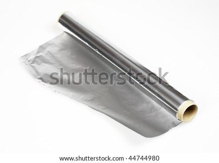 aluminium foil roll isolated