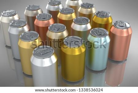 aluminium glossy can #1338536024