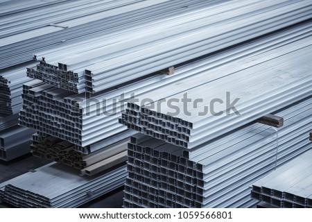 Aluminium profiles for constructions. Aluminum constructions factory #1059566801