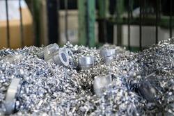 Aluminium ship and NG parts recycle  at aluminium casting process in aluminium casting manufacturing industry