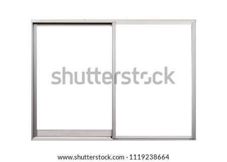 606cff6b3d55 Aluminium window frame isolated on white background