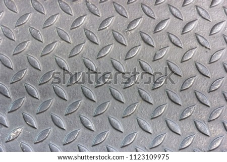 Aluminium with rhombus shapes texture for background #1123109975