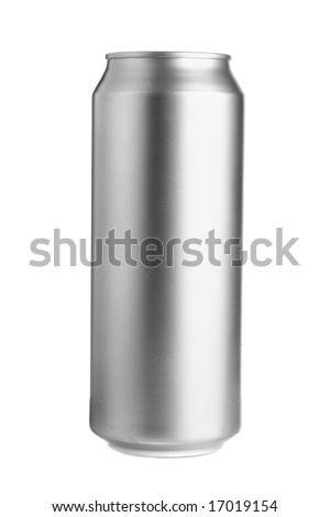 Aluminum beer can isolated over white background