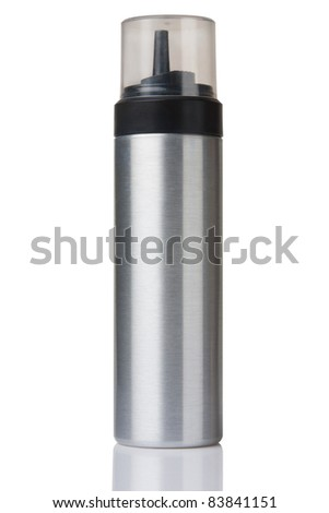 aluminum bottle isolated on white with paths