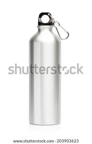 Aluminum bottle water isolated white background #203903623