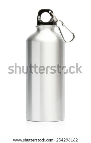 Aluminum bottle water isolated white background #254296162