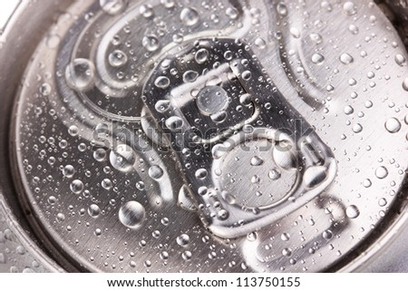 aluminum can close-up