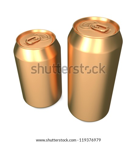 Aluminum Cans Isolated on White Background.