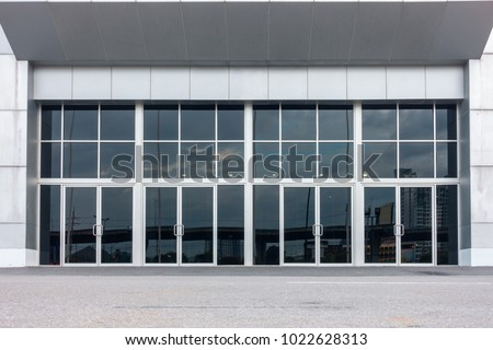 Aluminum composite and entrance door of exhibition hall.