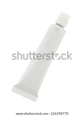 Aluminum cream tube (with clipping path) isolated on white background