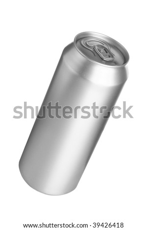 Aluminum drink can isolated over white background