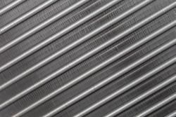 Aluminum fins of condenser for air conditioner.