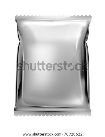 aluminum foil bag package with zigzag cut