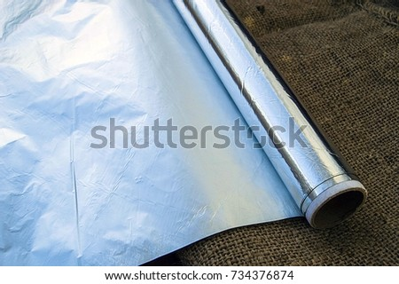 aluminum foil,kitchen tools and utensils, aluminum foil used in kitchen, aluminum foil pictures in different concepts,