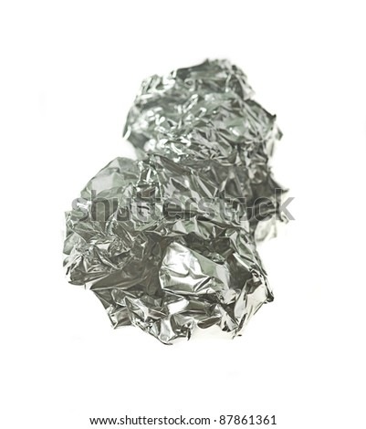 aluminum foil paper isolated on a white background #87861361
