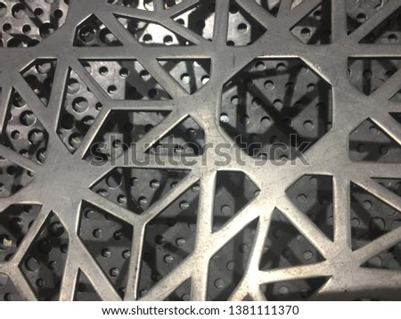 Aluminum laser pattern on the object and surface area