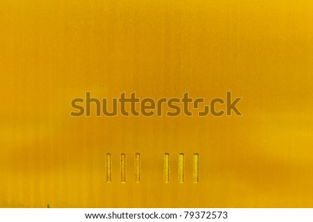 Aluminum surface, the bright red center around the shadows - stock photo