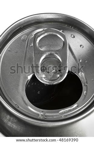 aluminum tin isolated on white background