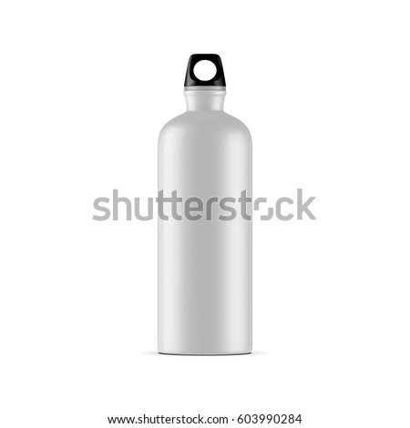 Aluminum water sport bike Bottle Mockup isolated on white background, 3d rendering