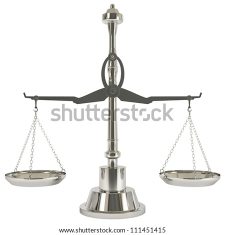 Aluminum Weight Scale - Isolated on background