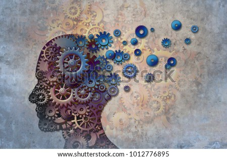 Alzheimer memory loss due to Dementia and brain disease with the abstract medical icon of a human head and neurology research as a 3D illustration.