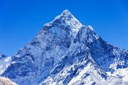 Ama Dablam mountain in Everest region, Himalaya, Nepal