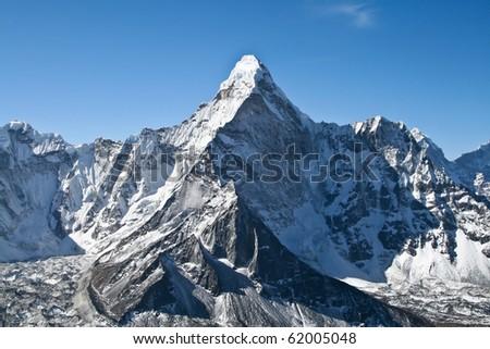 Ama Dablam mountain, Khumbu glacier, Nepal