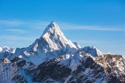 Ama Dablam mountain view from Kala Patar Mount. Nepal, Sagarmatha National Park