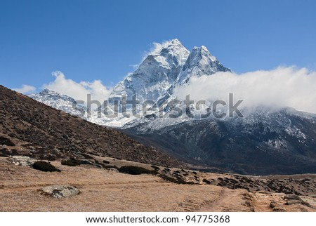 Ama Dablam peak (6814 m) - Mt. Everest region, Nepal