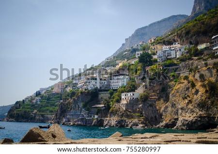 amalfi coast landscape #755280997