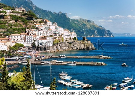Amalfi town by Naples, Italy