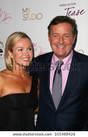 "Amanda Holden, Piers Morgan at Paris Hilton's ""Tease"" Fragrance Launch, MyStudio, Hollywood, CA. 09-10-10"