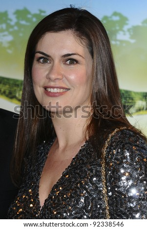 Amanda Lamb arriving for the Cirque du Soleil Gala Performance of Totem, at the Royal Albert Hall, London.  05/01/2012  Picture by: Steve Vas / Featureflash