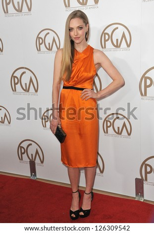 Amanda Seyfried at the 2013 Producers Guild Awards at the Beverly Hilton Hotel. January 26, 2013  Los Angeles, CA Picture: Paul Smith