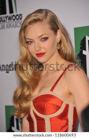 Amanda Seyfried at the 16th Annual Hollywood Film Awards at the Beverly Hilton Hotel. October 22, 2012  Beverly Hills, CA Picture: Paul Smith