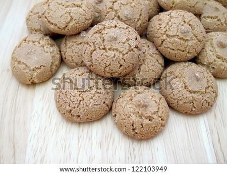 Amaretti traditional Italian cookies