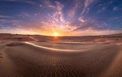 Amazing African Sunset over the Namib Desert, Namibia