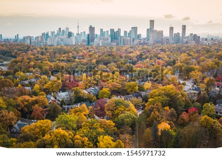 Amazing autumn aerial photography of Toronto Stock photo ©