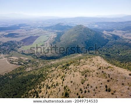 Amazing Autumn Landscape of Lyubash mountain, Pernik Region, Bulgaria Stok fotoğraf ©