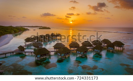 Stock Photo Amazing bird eyes view in Maldives