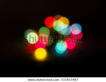 amazing bokeh of christmas lights