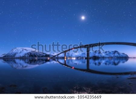 amazing bridge and starry sky...
