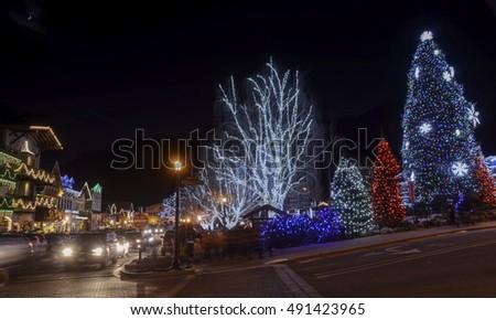 Amazing Christmas Lighting wonderland in Leavenworth,WA USA 5. Photo taken on 2014.12.25 at Leavenworth,WA USA #491423965