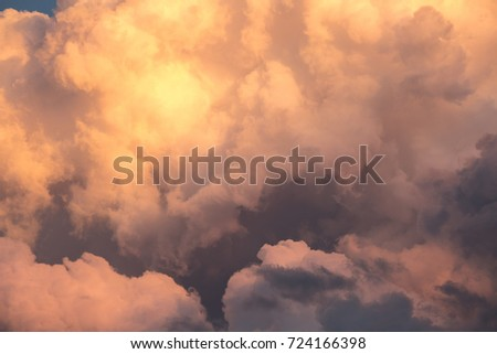 Amazing close up of clouds taken during sunset Foto stock ©