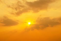 Amazing Crepuscular rays over sea