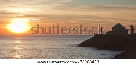 Amazing dusk in Spain. High density range image