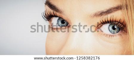 amazing  eyes  close-up shot Foto stock ©